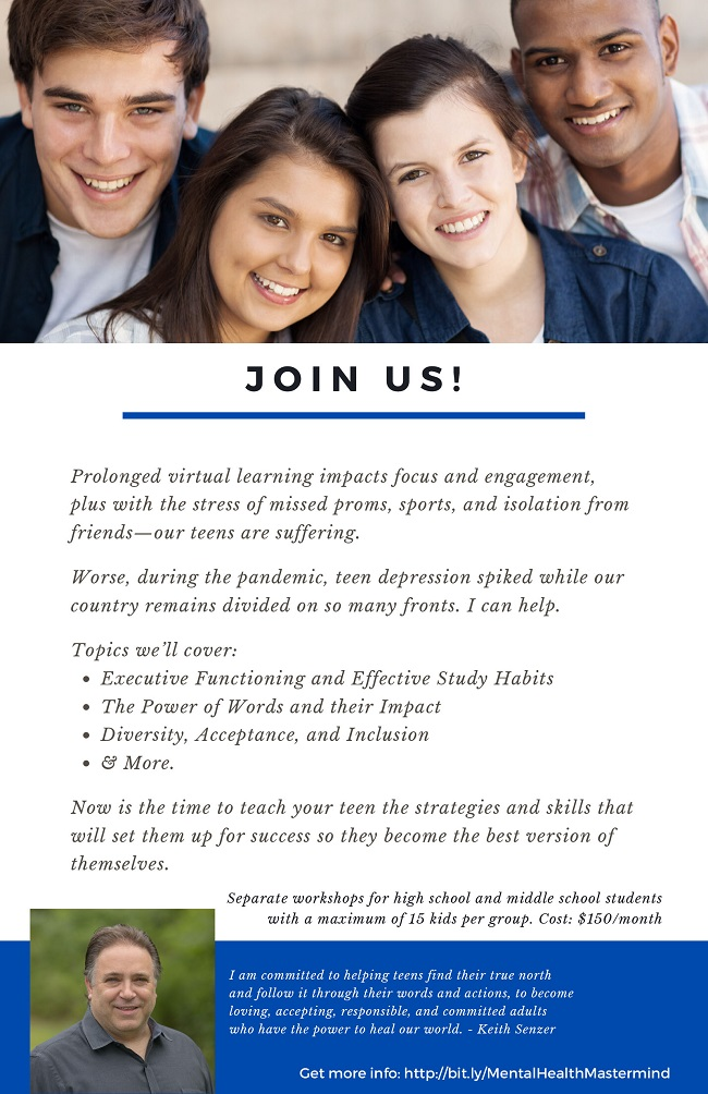 Join the Teen Mental Health & Empowerment Mastermind Group
